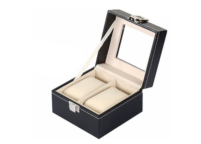 Square Mens Watch And Jewelry Box , Elegant Style Watch Case Holder Box